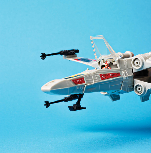 A 1982 Micro Collection X-wing fighter