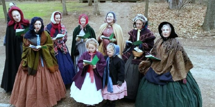 Victorian carolers entertain at Holly Days