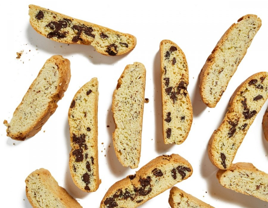 Chocolate chip and poppy seed biscotti