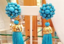 turquoise tropical earrings