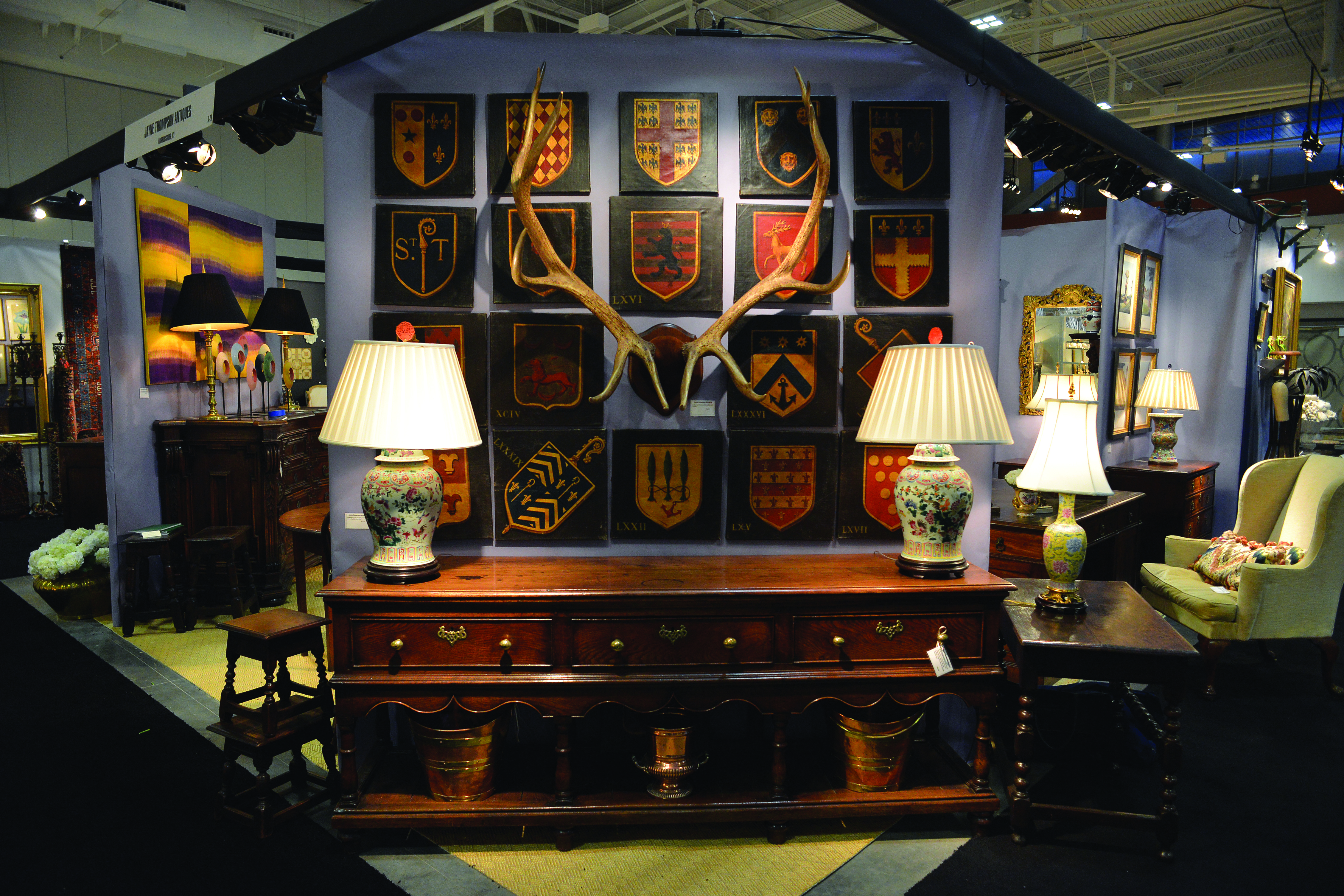 Booths of antique vendors at last year's show