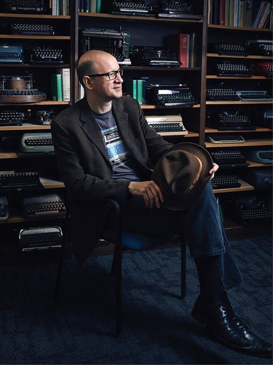 Richard Polt in his office at Xavier University.