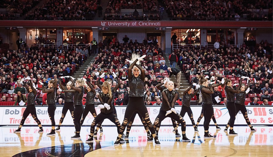 We are Family. UCDT performing its hip-hop routine at Fifth Third Arena