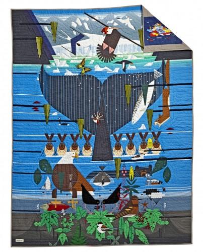 Charley Harper for Land of Nod Glacier Bay Bedding Quilt, $399 (twin), $459 (full)