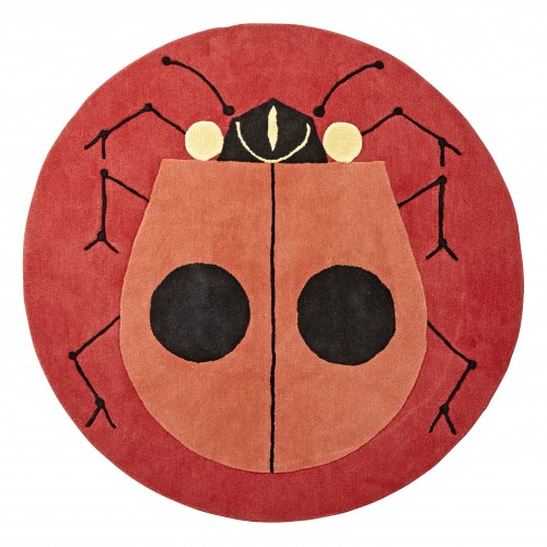 Charley Harper for Land of Nod Lady Bug Rug, $299 (5'x5')