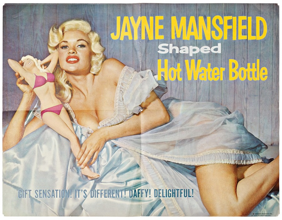 """""""Just to sell a hot-water bottle shaped like a woman doesn't have pizzazz,"""" says Poynter. """"It's got to have some presence. So why not sell Jayne Mansfield?"""""""
