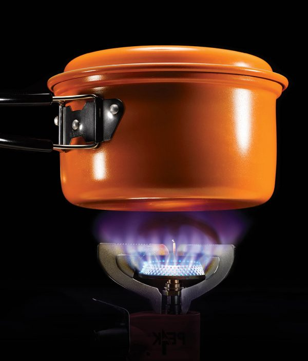 Pot Luck–This lightweight, nonstick pot makes cooking at even the most remote campsite quick and easy. Pack it up (it comes with its own carrying case) and hunker down for a hearty meal. Evernew 1.2-liter Ceramic Pot 15, $26.93, REI, rei.com
