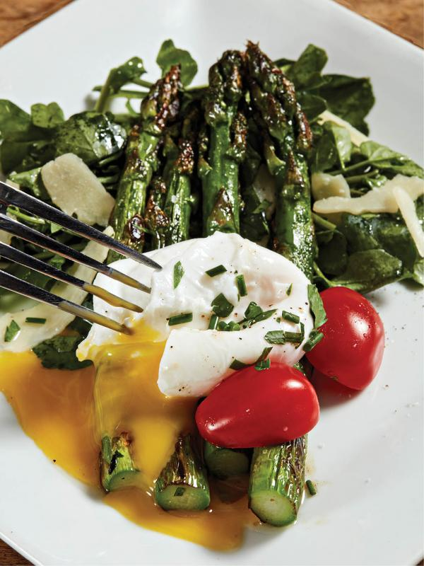 Asparagus salad with watercress