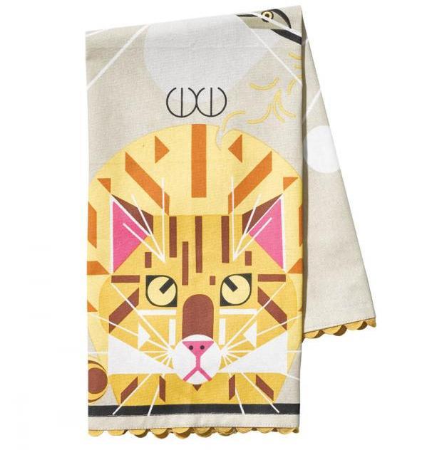 Tea towel, $17,95, Fabulous Frames & Art, fabframes.com