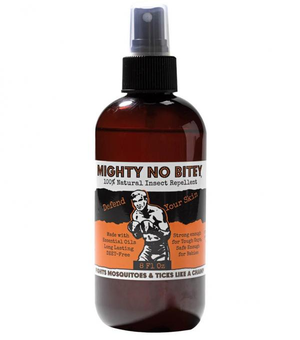 Earthy types will appreciate this lemon-scented, DEET-free, all-natural insect repellent. Made with organic essential oils, it's safe for everyone from kiddo to Fido—Zika be damned. Mighty No Bitey, $12.95, Park +Vine