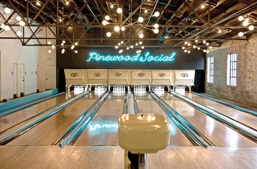 Cocktails with a side of bowling at Pinewood Social