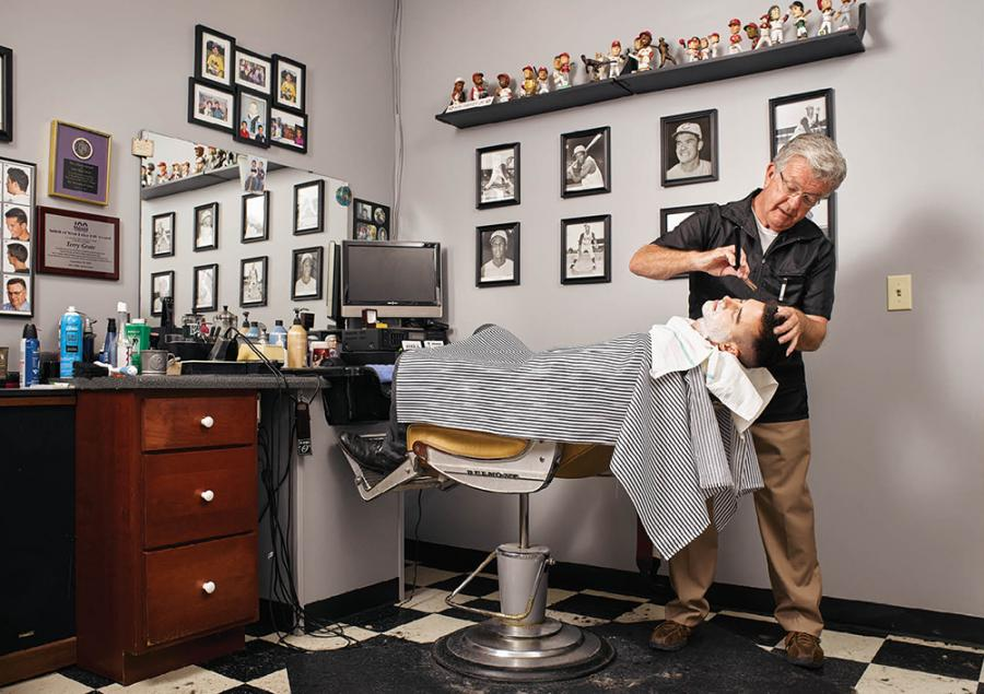 Terry Grote's barber shop