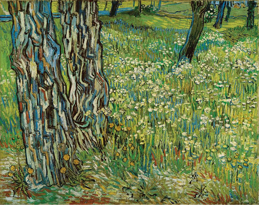 Vincent van Gogh (1853–1890), Tree Trunks in the Grass