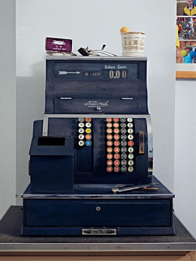 A National Cash Register at Turner Barber Shop