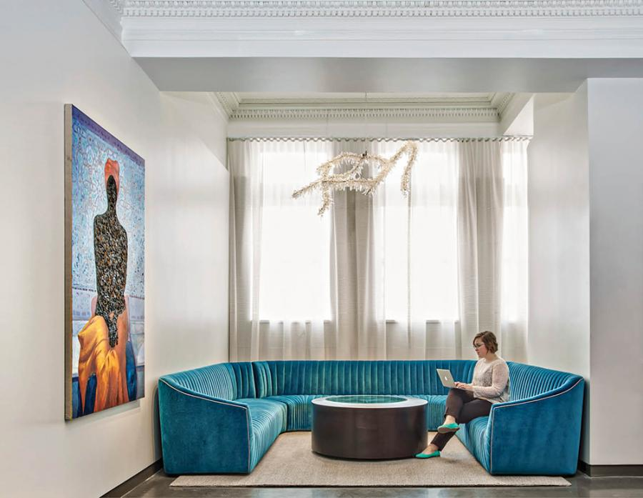 Surround yourself with modern art at 21c Museum Hotel