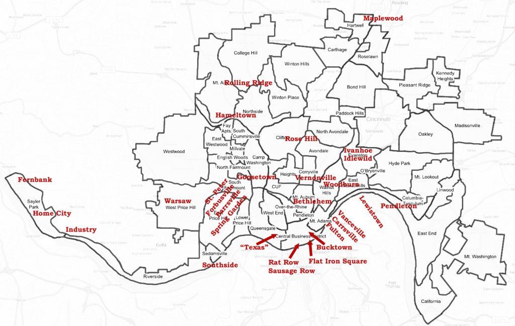 From Bucktown To Vanceville: Cincinnati's Lost 19th Century ... on