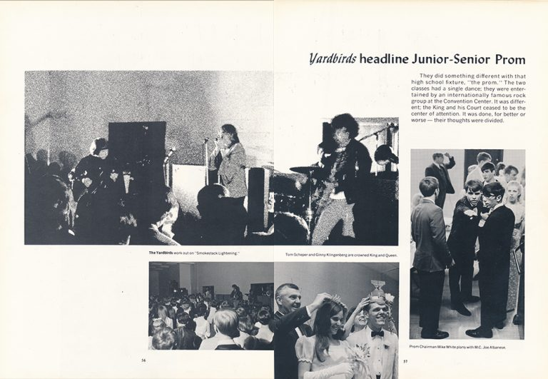In 1968, Jimmy Page and the Yardbirds Played at St. Xavier's Prom