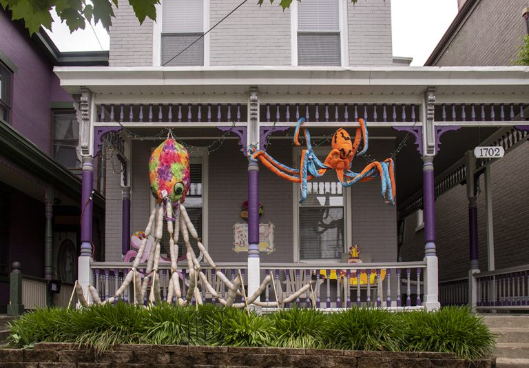 Whimsical ScareCoronas Ease COVID-19 Concerns in Northside