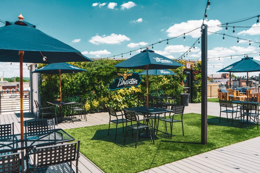 Braxton Brewing's rooftop