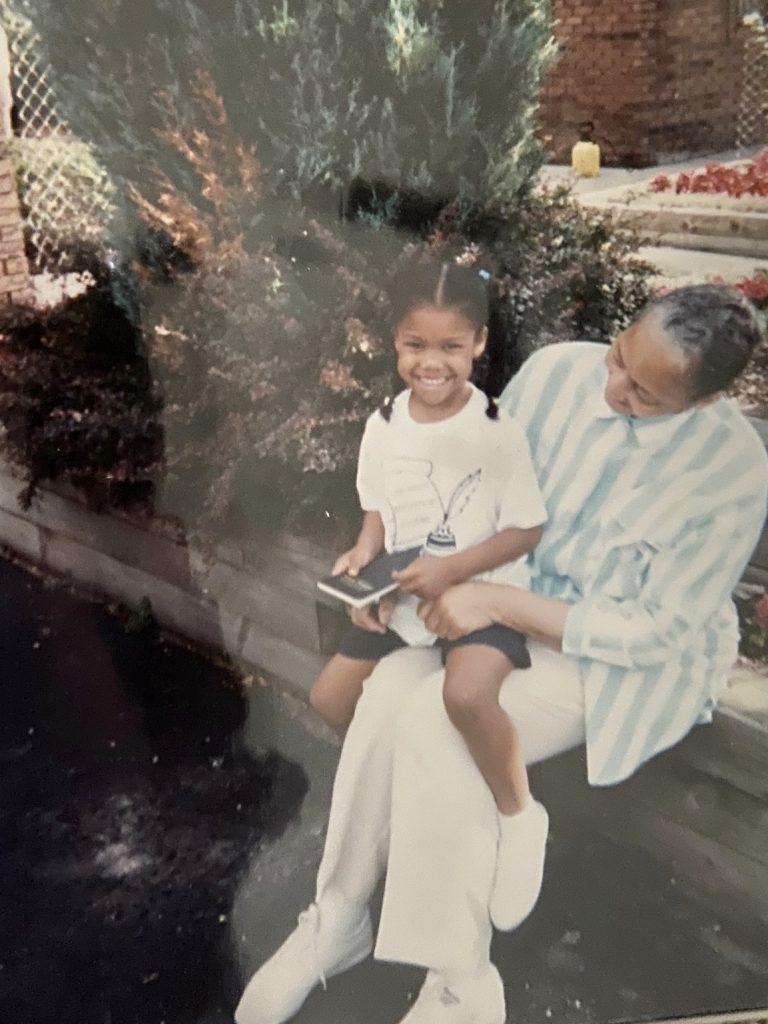 Nia Baucke and her grandmother