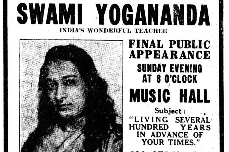 A Swami Inspired Cincinnati Seekers in the 1920s